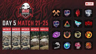🔴LEO PUBG Tournament DAY5