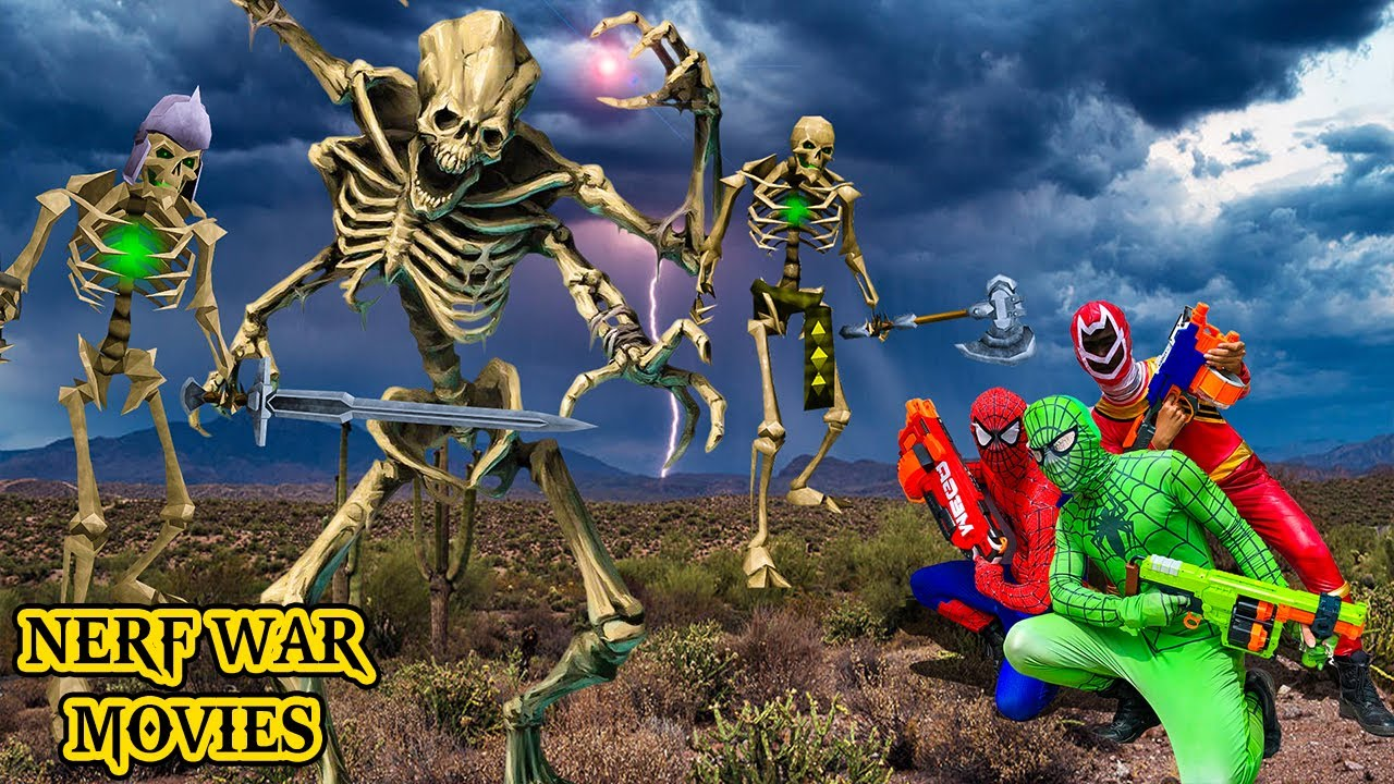 Nerf War Movies: Spider Man Squad X Warriors Nerf Guns Fight The Criminal Group Army From The Hell