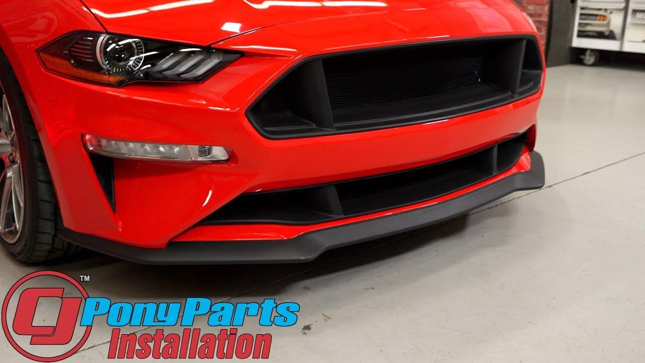 2018-2019 Mustang GT/EcoBoost Cervini Upper/Lower Grille C-Series Textured Matte Black ...