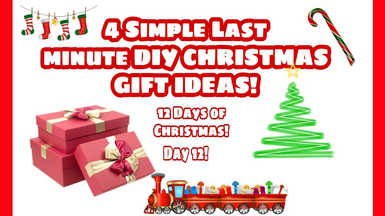 12 Days Of Christmas Gift Ideas.4 Last Minute Diy Christmas Gift Ideas For Co Worker Friend Neighbor 12 Days Of Christmas Day 12