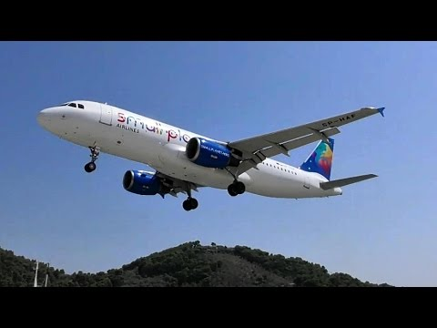 Plane Spotting in Skiathos Airport, Greece. Low Landings, Jet Blasts, Takeoffs and More