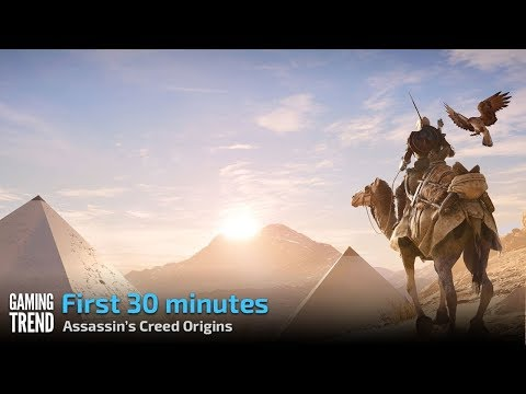 Assassin's Creed Origins - Let's Play the first 30 minutes [PC - Ultra] [Gaming Trend]