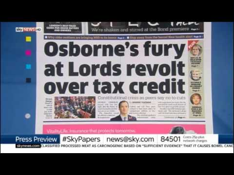 Tax credits revolt: Kevin Maguire owns the Daily Mail's Tory boy (Sky Papers)