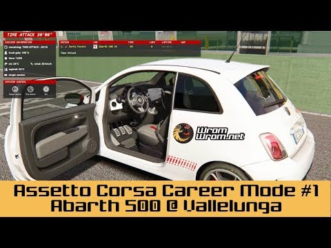 "Fiat Abarth 500 @ Vallelunga Serta's Assetto Corsa Career 1 ""It's a Challenge"""