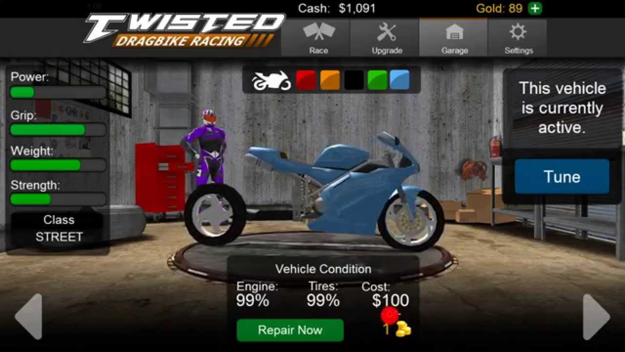 Twisted DragBike Racing Doovi