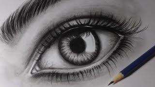 Como desenhar um olho realista| How to draw realistic eye