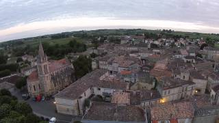Drone - Bourg village, Gironde, France