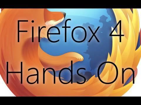 Firefox 4 Beta Hands On