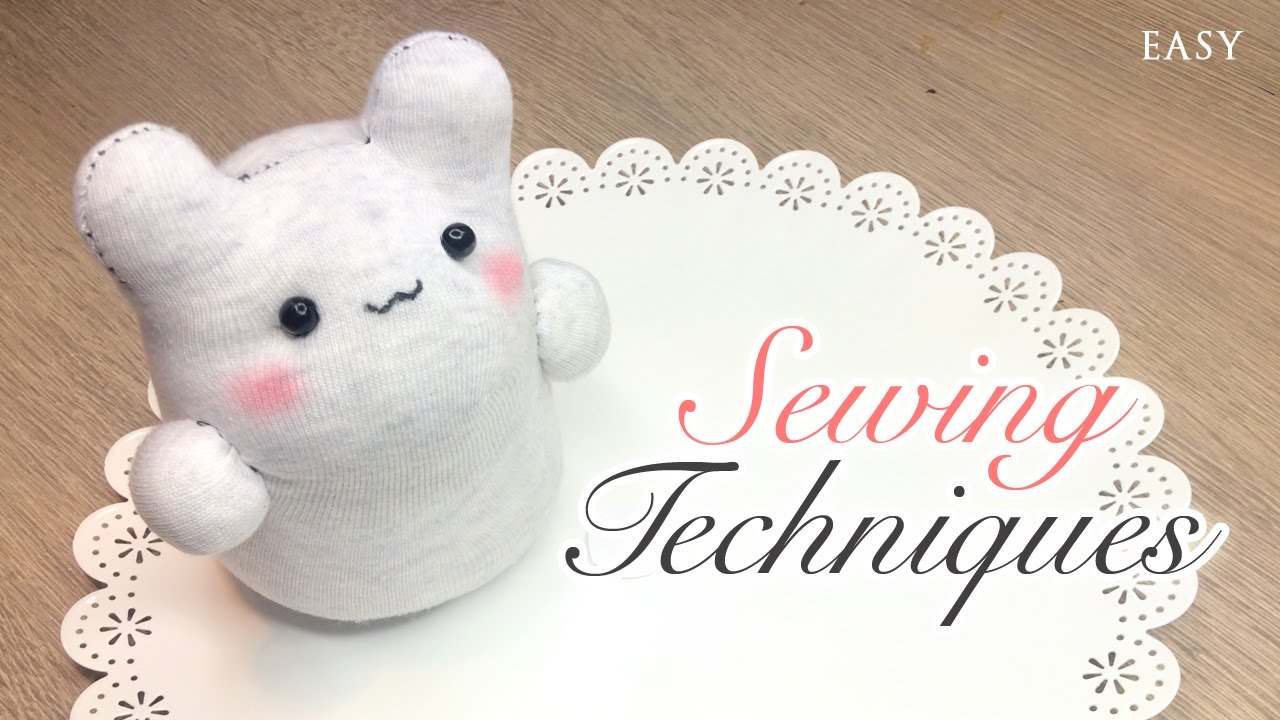 Sock Plush Sewing Tips - 6 Techniques on How To Sew Cute Toys - YouTube