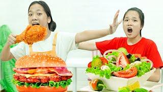 Cách Làm Sandwich Gà Rán ❤ Chia Sẻ Đồ Ăn Cho Bạn - Trang Vlog