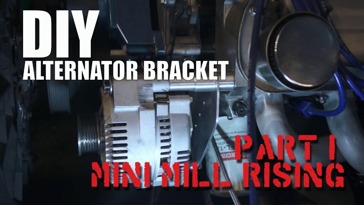 DIY Alternator Bracket: Harbor Freight Mini Mill in Action - Part 1