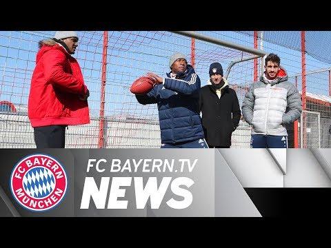 FC Bayern's Post-Hertha Training & Visit from NFL Star Deshaun Watson