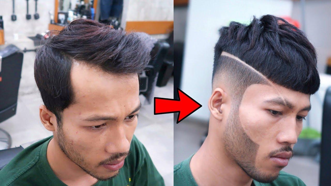 AMAZING TRANSFORMATION ⭐ haircut tutorial ✓ Solusi dahi lebar