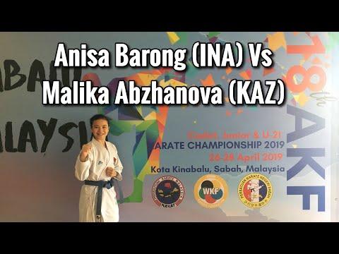 Anisa Barong Vs Malika Abzhakova - AKF Junior Championship 2019 Kota Kinabalu - Sabah - Malaysia