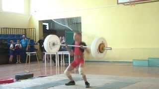 Тяжёлая атлетика. Алексей Потёмкин, 13 лет, вк 34 кг.  Толчок   33 кг