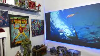 PAINT YOUR OWN OLED LIKE PROJECTION SCREEN AND USE IT IN A FULLY LIT ROOM IF YOU LIKE!