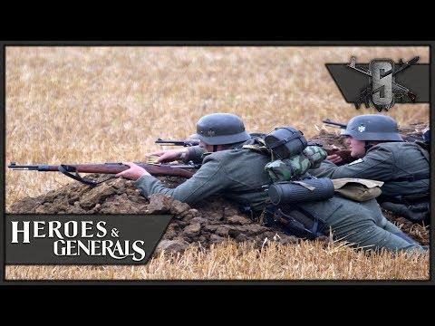 Back 2 Basics, Kar98k Iron Sights - Heroes and Generals - German Infantry Gameplay 1440p60