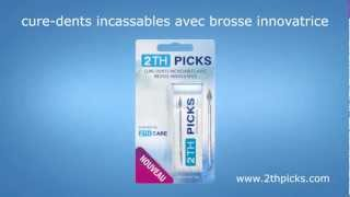 2TH PICKS Cure-dents incassables avec brosse innovatrice