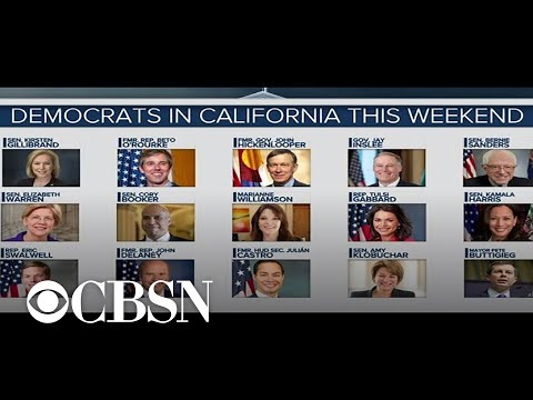 Presidential candidates flock to California for state Democratic convention