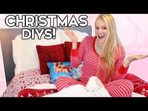 DIY Pinterest Holiday Room Decor & Christmas Makeover!