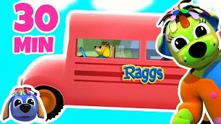 Wheels On The Bus Go Round And Round | Nursery Rhymes | Songs for Children By Raggs Tv