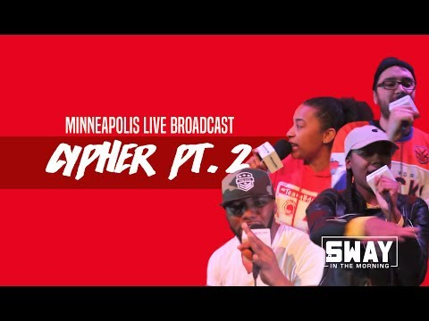 Live in Minneapolis: Local Rappers Freestyle on Sway in the Morning Cypher 2