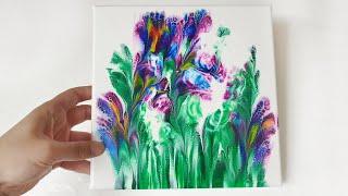 (122) Dip technique _ Beautiful iris _ Two canvases _ No silicone _ Designer Gemma77