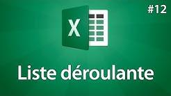 Excel 2016 - Créer une liste déroulante - Tuto #12