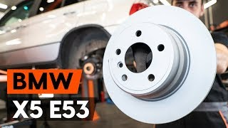 front and rear Brake disc kit installation BMW X5: video manual