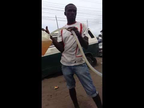 Gasoline Black market hustlers in Lagos Nigeria