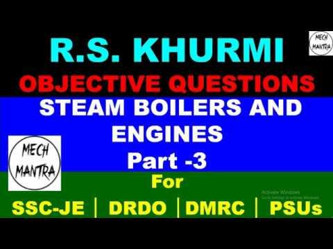 Steam Boiler & Steam Engine Objective Question | Part – 3 | MCQ | RS Khurmi