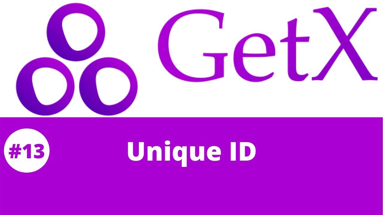 Flutter GetX Tutorial || Flutter GetX Unique ID #13