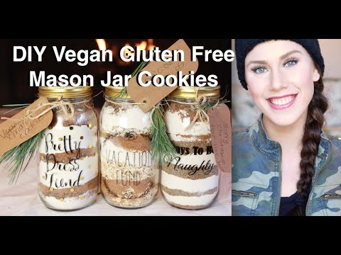 DIY Last-Minute Mason Jar Superfood Cookie Gifts  (Vegan & Gluten Free) | Cassandra Bankson
