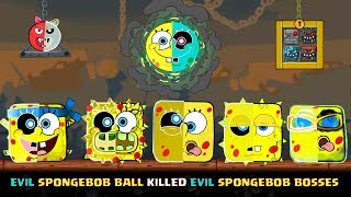 RED BALL 4 - ALL 5 EVIL SPONGEBOB BOSSES Fight Together by