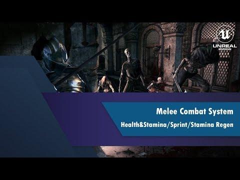 [UE4] [3] Melee Combat System: Health & Stamina / Sprint / Stamina Regeneration thumbnail