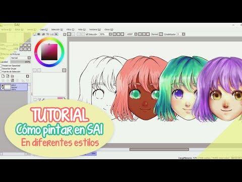 【TUTORIAL SAI】 Cómo pintar en diferentes estilos ❤ By Piyoasdf