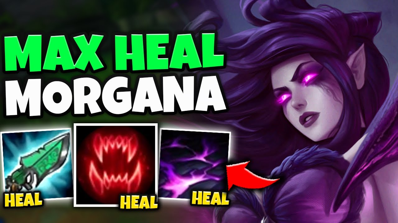 ONE MORGANA W HEALS YOU TO FULL! SPELL-VAMP MORGANA MID HAS INFINITE SUSTAIN - League of Legends