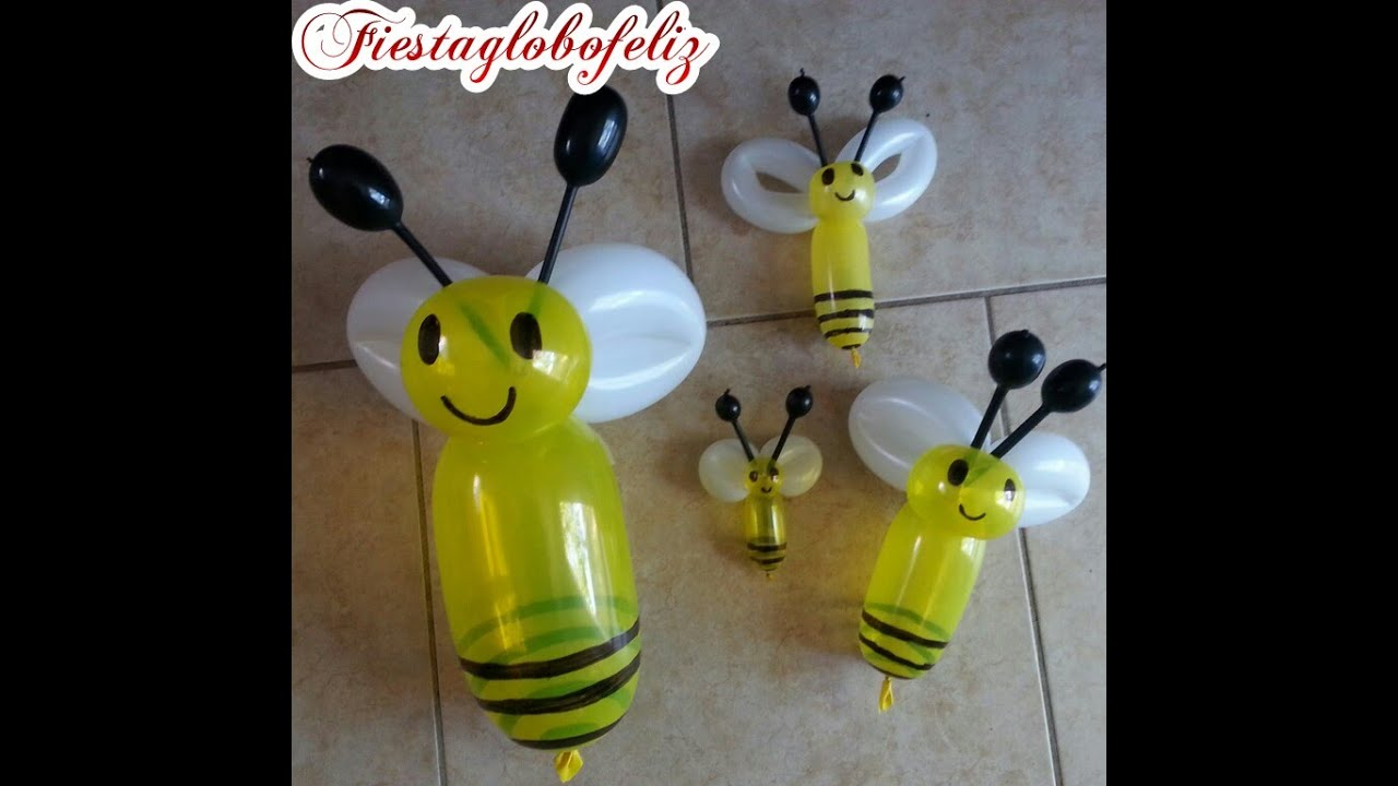 C mo hacer una abejita con globos de diferentes ta youtube - Como hacer decoracion con globos ...