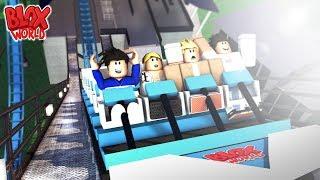 Roblox Amusement Park Vlog Day 1: Blox World