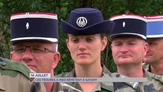 14 juillet : les troupes à pied répètent à Satory