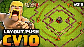 MELHOR LAYOUT DE PUSH PARA CV10 ATUALIZADO, BEST PUSH LAYOUT FOR TH10 UPDATED - Clash Of Clans 2018