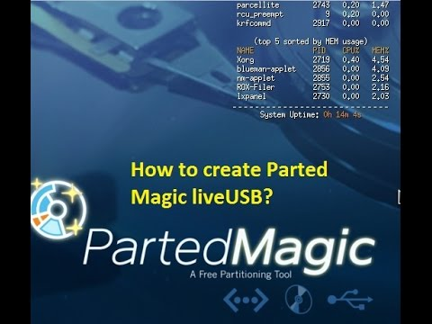 How to create Parted Magic liveUSB