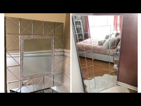 Dollar Tree DIY || 💕 Large Mirrored Home Decor || Glam Edition 💕