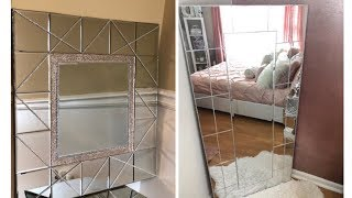 Dollar Tree Diy || Large Mirrored Home Decor || Glam Edition