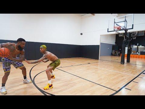 Cash vs Flight 1v1 Basketball! Shave Beard or Burn Shoes Wager!