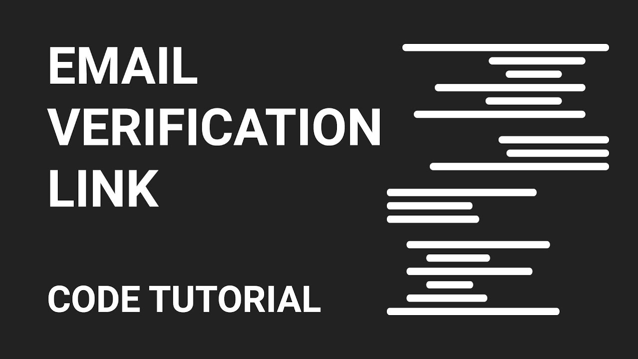 email verification link code tutorial part 1 - Verify Email Address Php