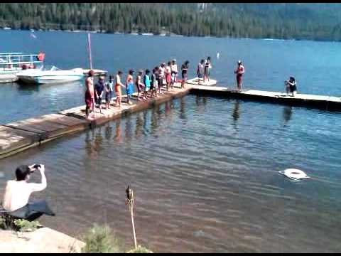 swim test at camp kern - YouTube