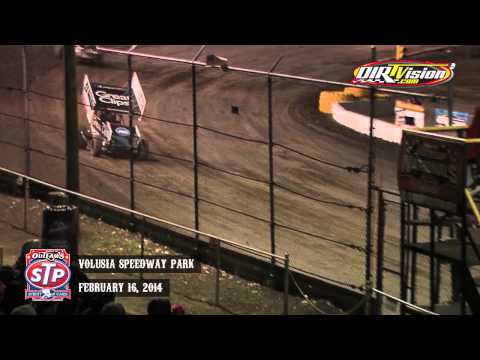 Highlights: World of Outlaws STP Sprint Cars Volusia Speedway Park February 16th, 2014
