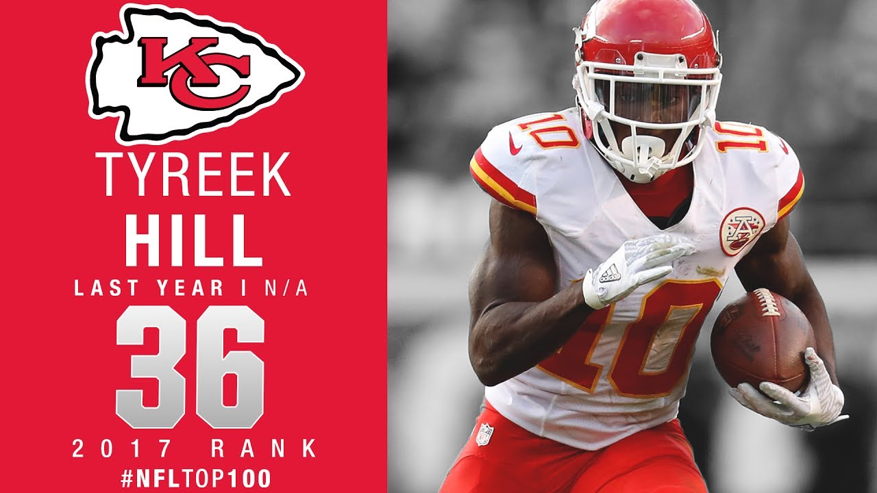 36 Tyreek Hill WR Chiefs Top 100 Players of 2017