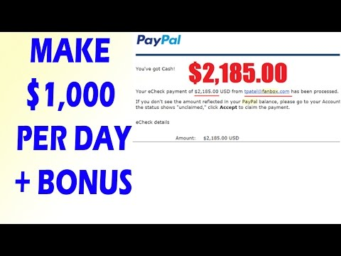 How To Make Money Online Fast – Ways To Earn Money Online 2017 $1,000 Per Day